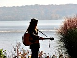 2014 Fogelberg Celebration - Mary with river backdrop - Marjan Norman Photo